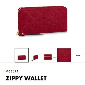 Louis Vuitton zIppy wallet scarlet monogram